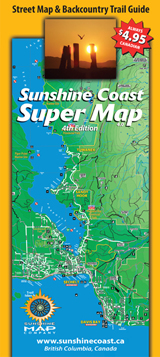 The Sunshine Coast Super Map Retails For 4 95 Cdn And Can Be Found In 100 Locations On And Off The Coast